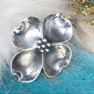 Vintage Dogwood Flower Brooch Pin Stuart NYE